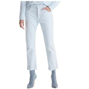 MOTHER THE SCRAPER CUFF ANKLE FRAY JEAN